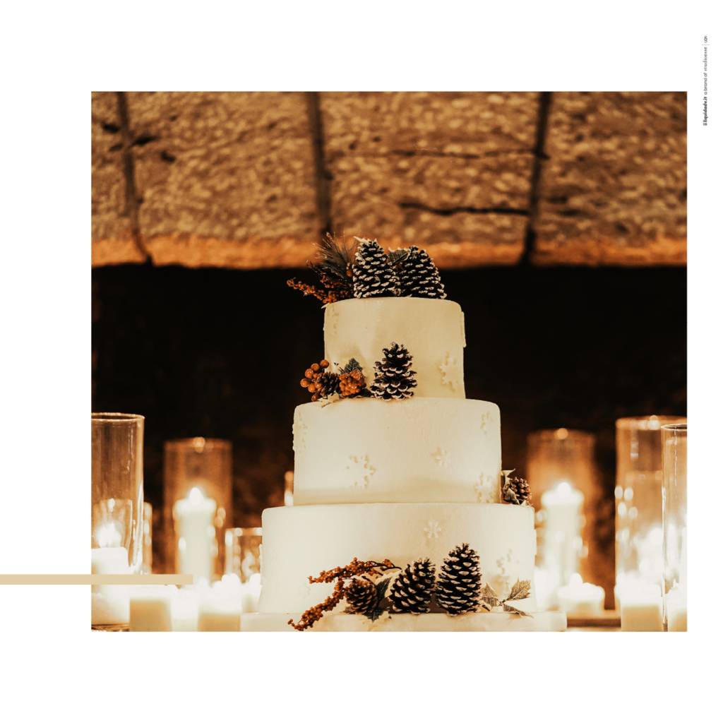 Wedding cake natalizia a Villa Ortensia D'Avalos