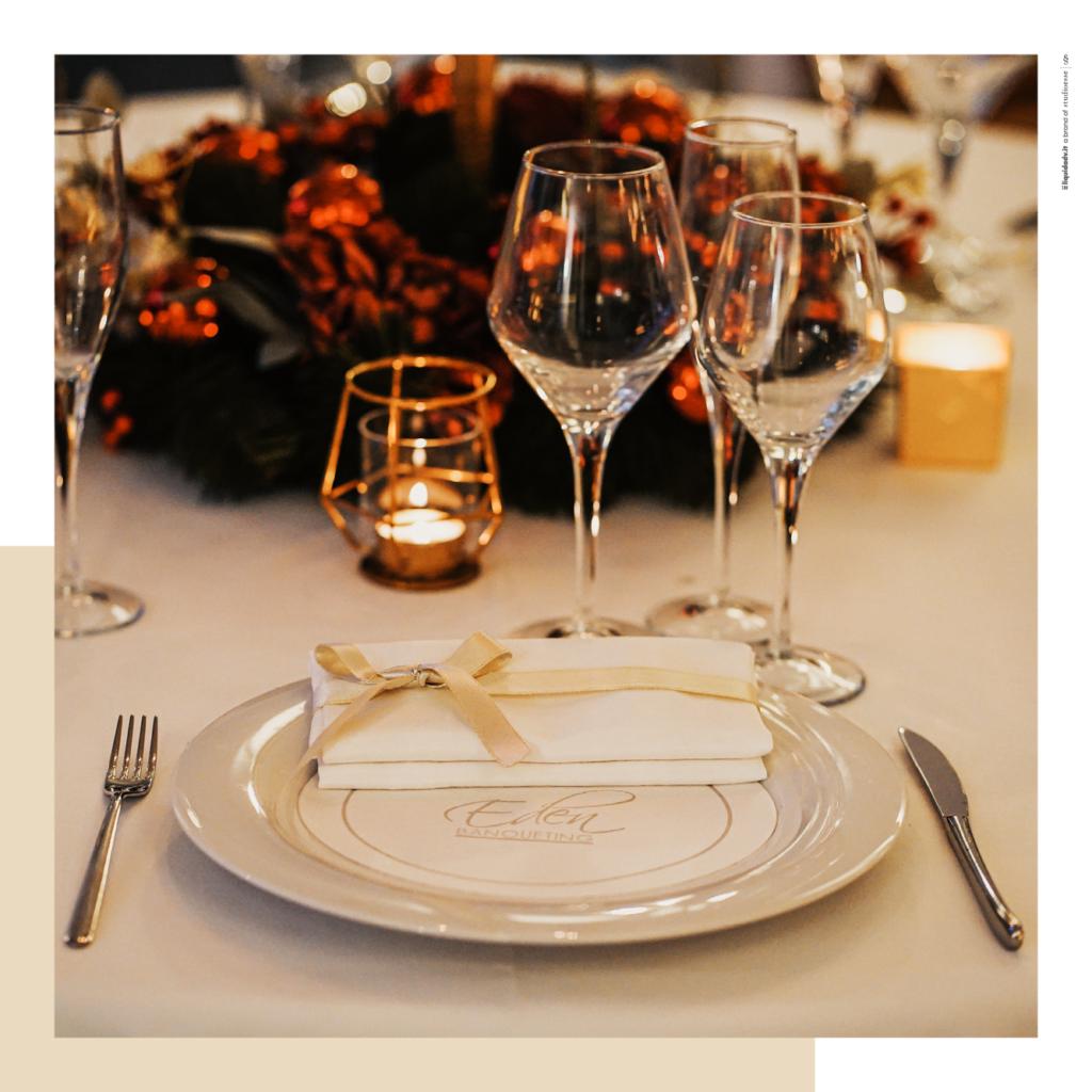 Mise en place di un matrimonio a Natale a Villa Ortensia D'Avalos